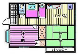 曽山ハイツ[1階]の間取り