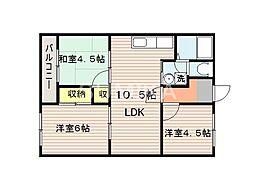 ピュア田中[3階]の間取り
