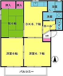 エコーズユタカ[A201号室]の間取り