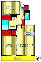 ボナール酒井根II号棟[102号室]の間取り