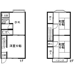 [テラスハウス] 神奈川県座間市入谷5丁目 の賃貸【神奈川県/座間市】の間取り