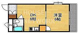 竹中ビル[301号室号室]の間取り
