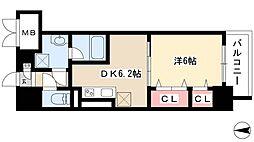 ル・ソレイユ 8階1DKの間取り