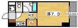 第2ハートビル 5階1Kの間取り