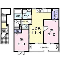 ジラソーレ近江八幡[0203号室]の間取り