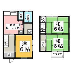 コーポ高野[1階]の間取り