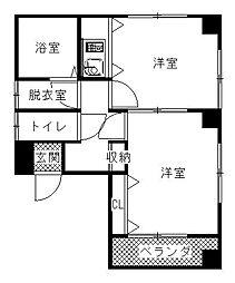 テルコーポ[3階]の間取り