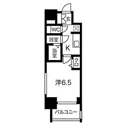 名鉄名古屋本線 山王駅 徒歩9分の賃貸マンション 4階1Kの間取り
