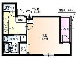 阪神本線 尼崎駅 徒歩7分の賃貸アパート 1階1Kの間取り