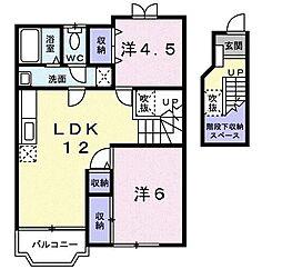 ドミールオカマエC[2階]の間取り