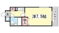 ライオンズマンション三宮東第2[313号室]の間取り