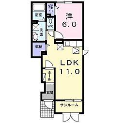 ラフレシ−ル B[0103号室]の間取り