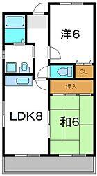 エスポアール金田[3階]の間取り