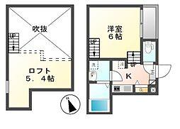イデアーレ尼ケ坂[1階]の間取り