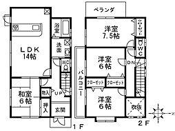 [一戸建] 兵庫県神戸市北区鹿の子台北町6丁目 の賃貸【/】の間取り