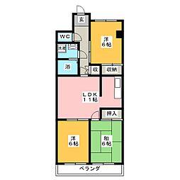 東柴ビル第3[4階]の間取り