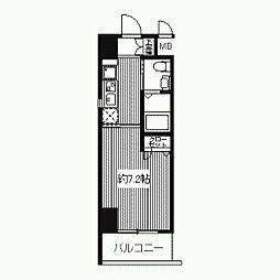 プライムアーバン江坂II[1006号室]の間取り