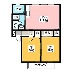 サンガーデン緑ヶ丘C[1階]の間取り