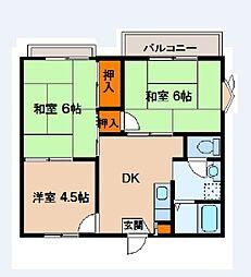 ファミール池田[203号室]の間取り