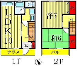 [テラスハウス] 千葉県松戸市上矢切 の賃貸【/】の間取り