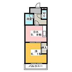 あぷと大正坂[1階]の間取り
