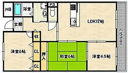 兵庫県神戸市兵庫区浜崎通5丁目の賃貸マンションの間取り
