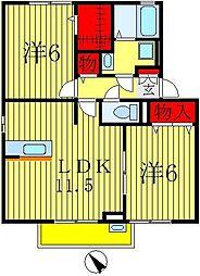 ルミエールA棟(しいの木台)[1階]の間取り