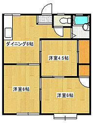 ウエストヒル菖蒲沢[1階]の間取り