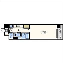 インザグレイス天神橋[7階]の間取り