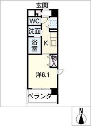 EASTCOURT SAKURABASHI[4階]の間取り
