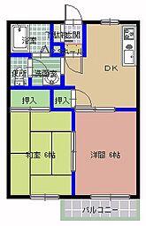 第二エントピア新井[106号室]の間取り