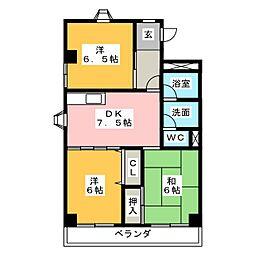 メゾンエスポワール[2階]の間取り