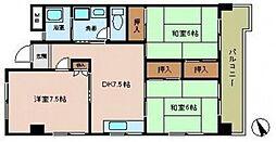 レジデンス観音[4階]の間取り