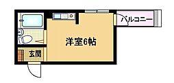 大阪府大阪市都島区都島中通2丁目の賃貸マンションの間取り