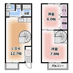 [テラスハウス] 愛知県清須市春日上須ケ田 の賃貸【/】の間取り