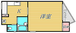 ヴェリテ桜新町[3階]の間取り