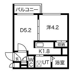 NatuRise[2階]の間取り
