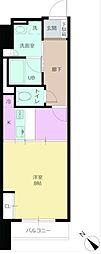 パワーハウスザレジデンス 11階1Kの間取り