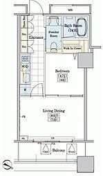 JR山手線 大塚駅 徒歩10分の賃貸マンション 5階1LDKの間取り