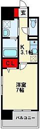 福岡県北九州市八幡東区春の町1丁目の賃貸マンションの間取り