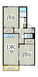 サンハイムS-B[1階]の間取り