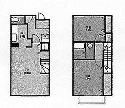 [テラスハウス] 茨城県牛久市中央4丁目 の賃貸【/】の間取り