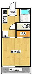 サンフィール吉柴[1階]の間取り