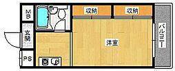 プチメゾン姫里[301号室]の間取り