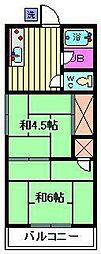 コーポ須賀[202号室]の間取り