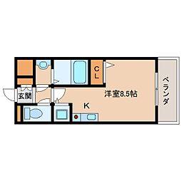 奈良県生駒市元町1丁目の賃貸マンションの間取り