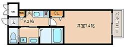 兵庫県神戸市兵庫区駅南通3丁目の賃貸アパートの間取り