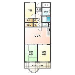 兵庫県神戸市垂水区海岸通の賃貸マンションの間取り