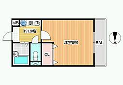 レオパレスWITH-A[2階]の間取り
