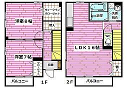 [テラスハウス] 広島県広島市安佐南区山本1丁目 の賃貸【/】の間取り